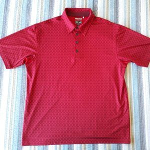 Adidas Mens Sz L Climacool Red Golf Polo Shirt